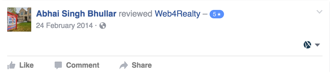 Web4Realty Facebook Review 15