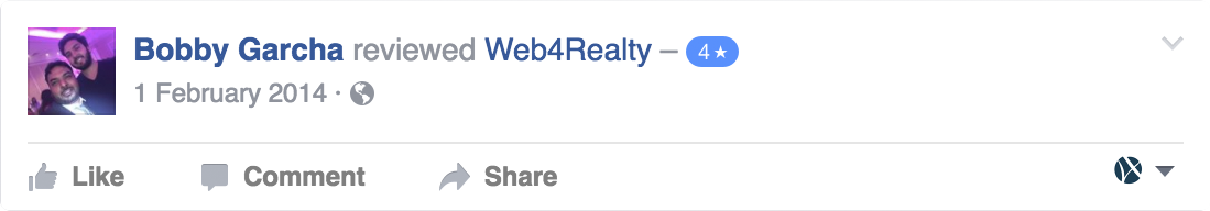 Web4Realty Facebook Review 18