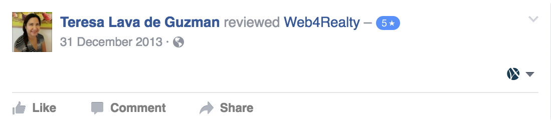 Web4Realty Facebook Review 26