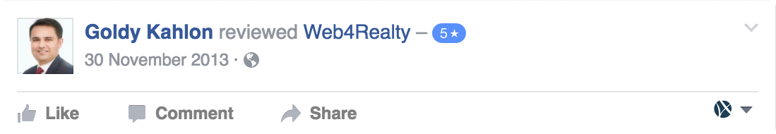 Web4Realty Facebook Review 27