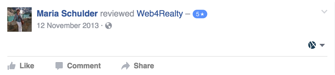 Web4Realty Facebook Review 34