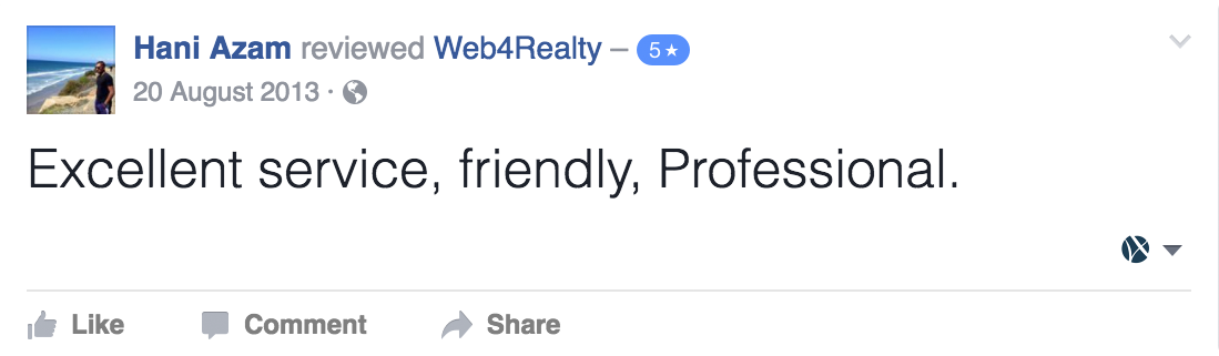 Web4Realty Facebook Review 42
