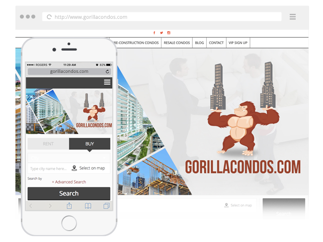 pre construction real estate website