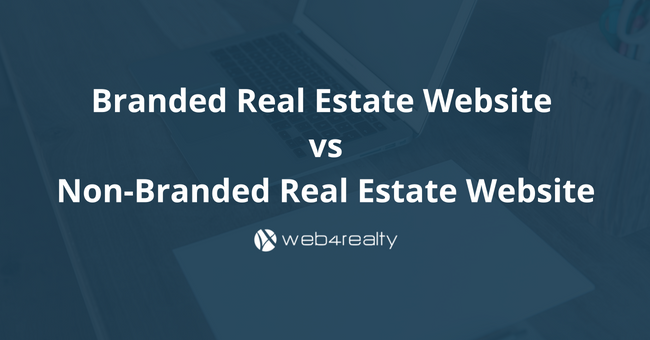 branded real estate website vs non-branded real estate website