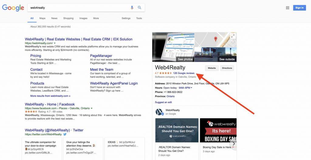 real estate google reviews