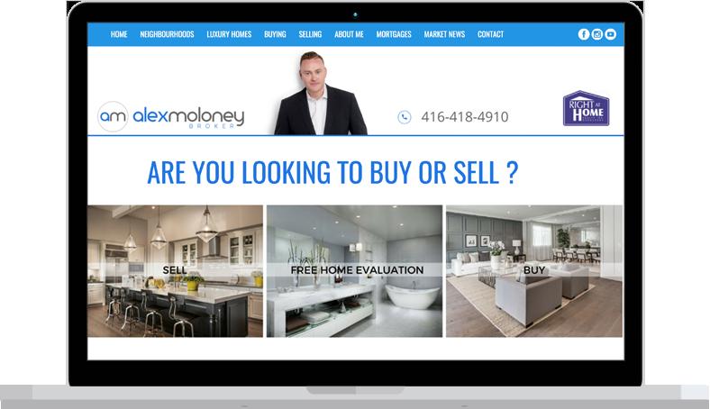 alex real estate website design