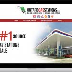 gas station real estate website design
