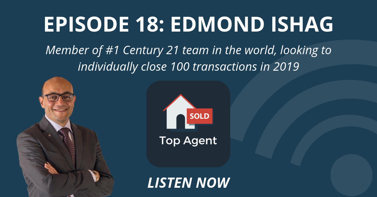 Member Of #1 Century 21 Team In The World, Looking To Individually Close 100 Transactions In 2019