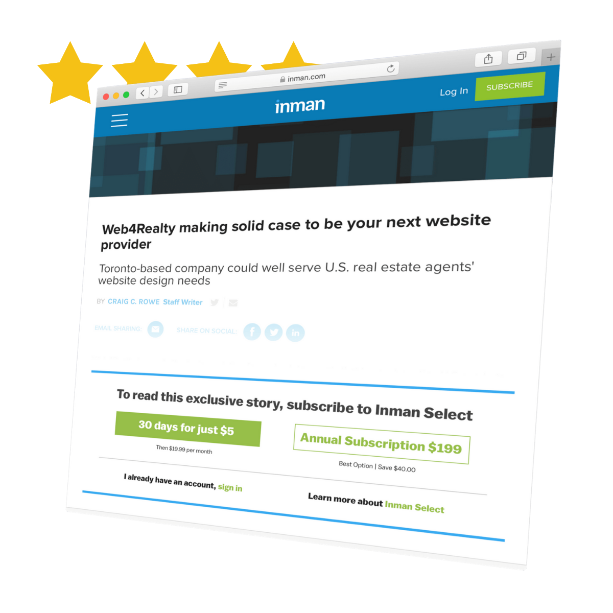web4realty inman review
