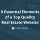 Web4Realty - 8 Essential Elements of a Top Quality Real Estate Website