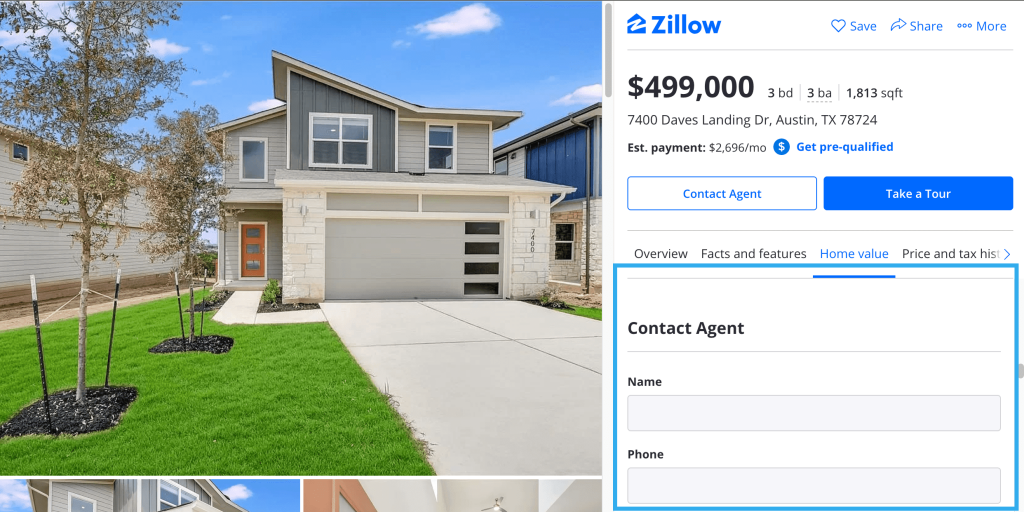 talk to a real estate agent