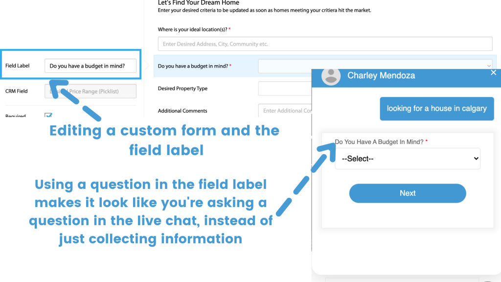 real estate live chat support