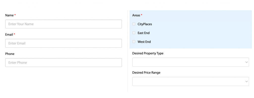 how to get real estate leads with contact forms
