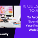 questions to ask before starting a real estate web design project