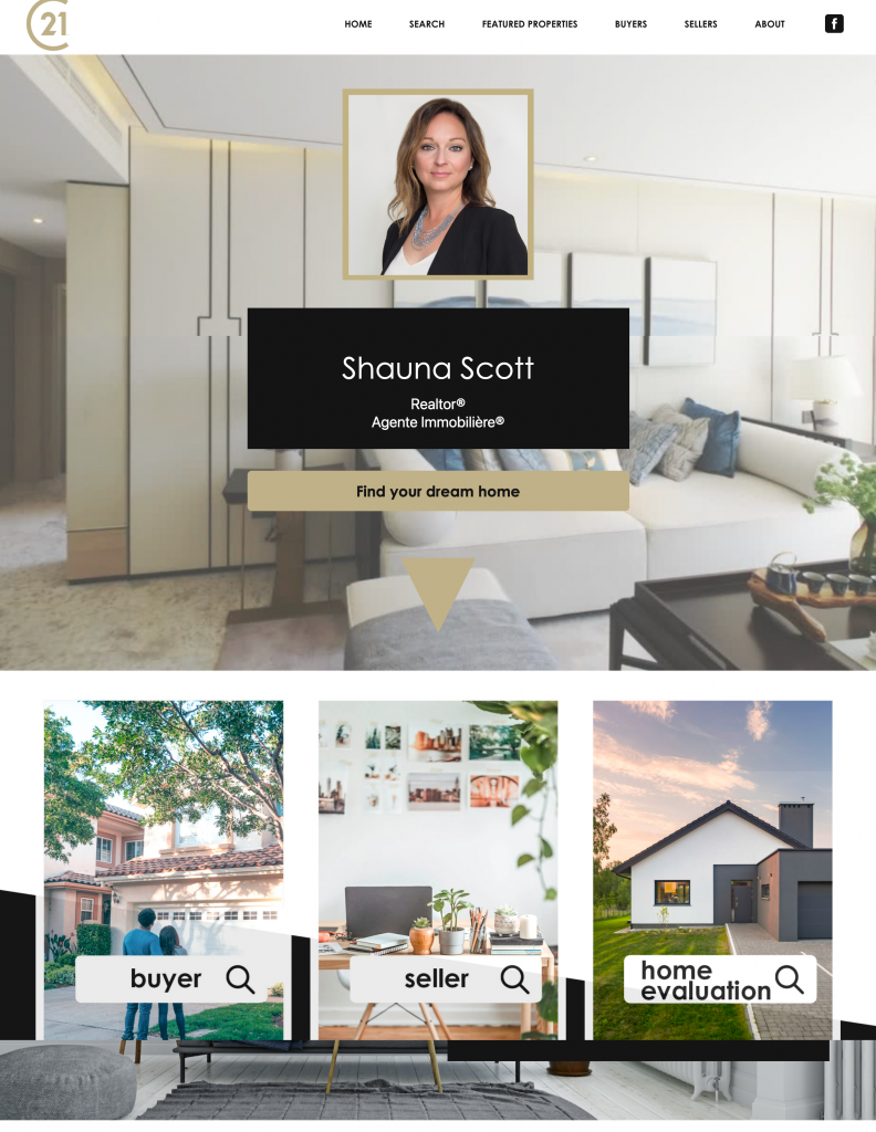 Clear theme real estate website templates