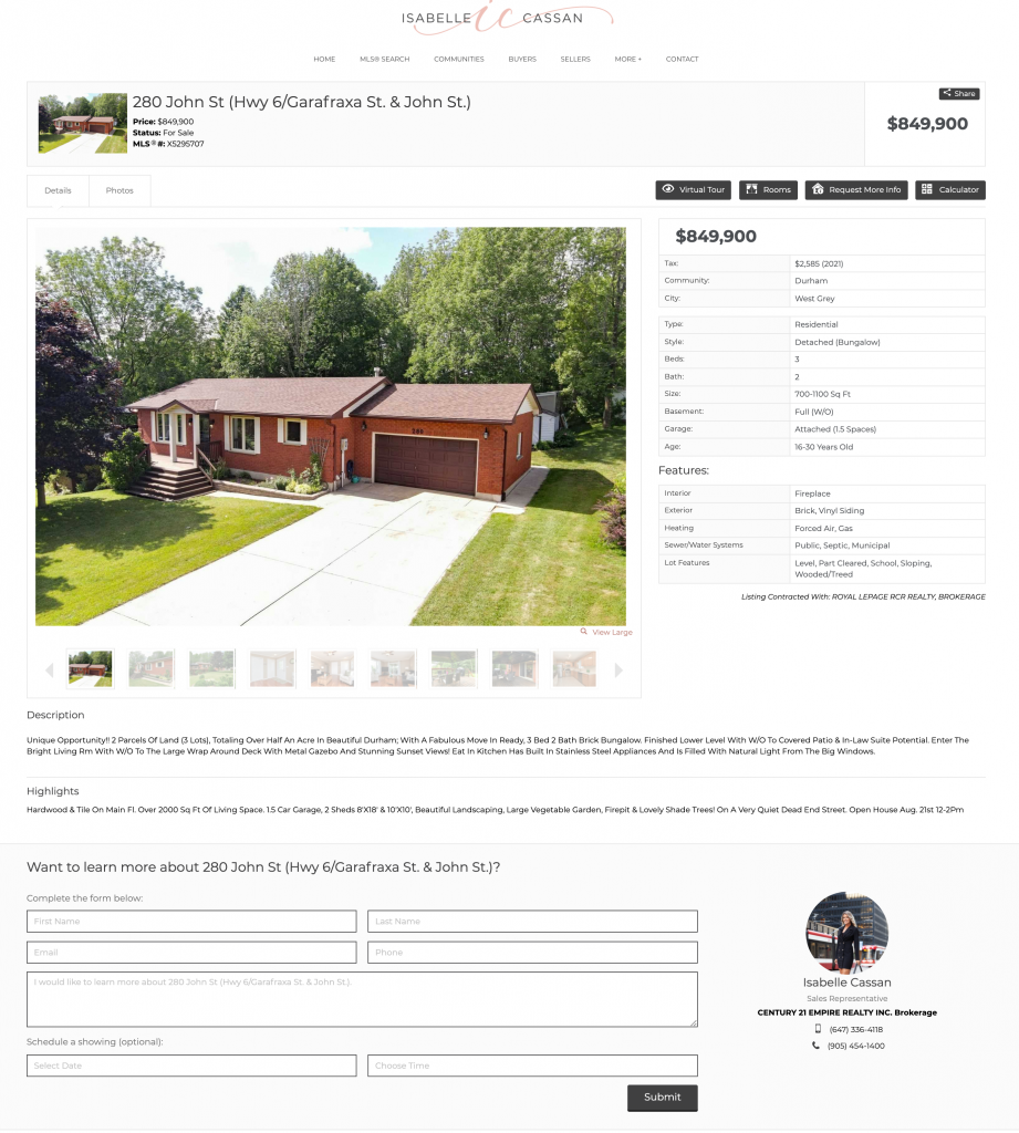 real estate website builder with drag and drop contact forms