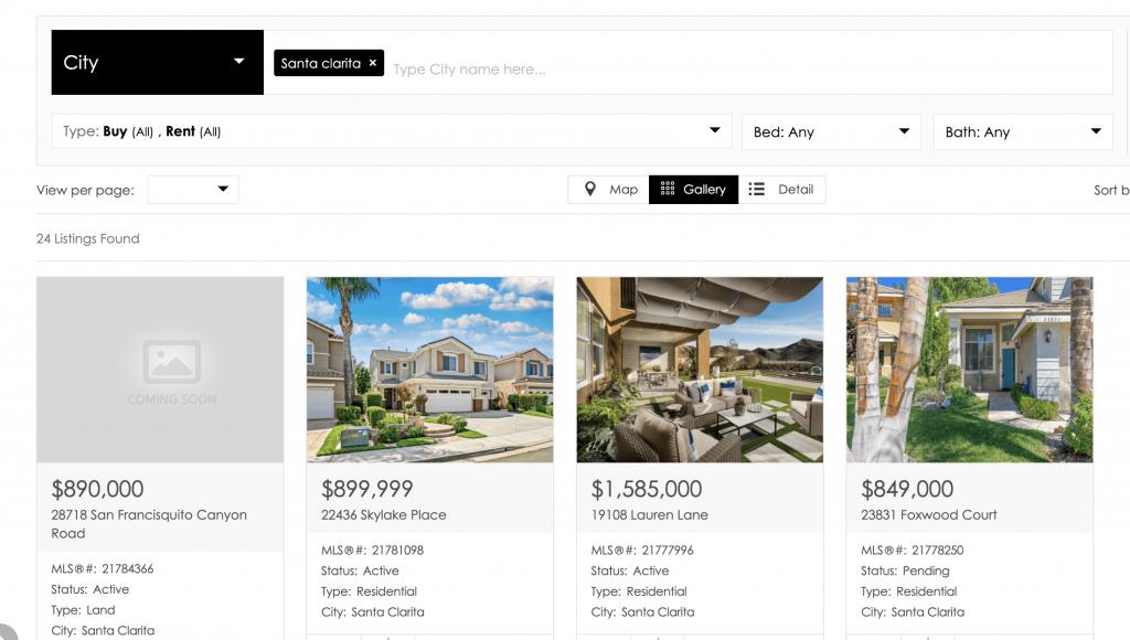 IDX website integration for custom real estate website