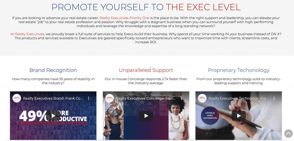 broker real estate website design