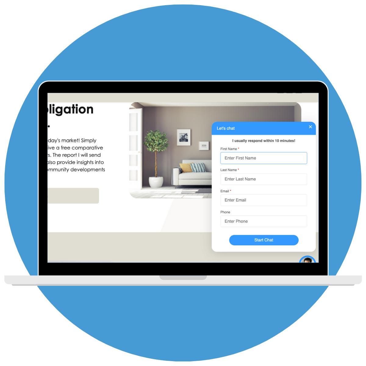 Real estate live chat widget