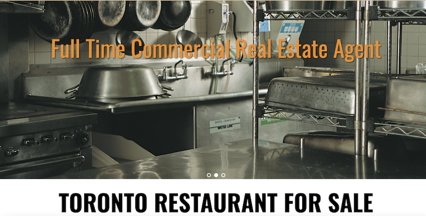 example of commercial real estate website design
