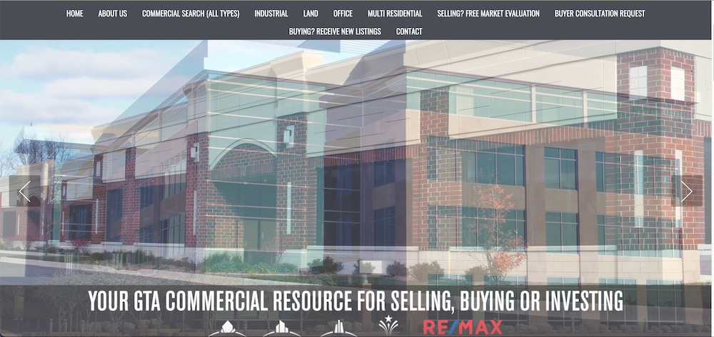 commercial real estate website design examples